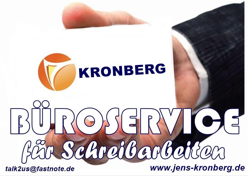 Büroservice Kronberg für Schreibarbeiten