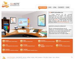 Webseite fastNOTE SchreibService