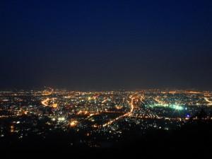 Chiang Mai bei Nacht - Sterne auf der Erde