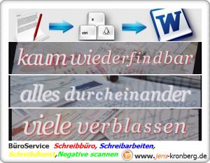 Büroservice Angebot Schreibarbeiten und Büroarbeiten