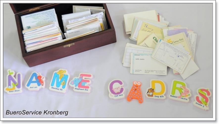 Businesscards als vCard eintippen