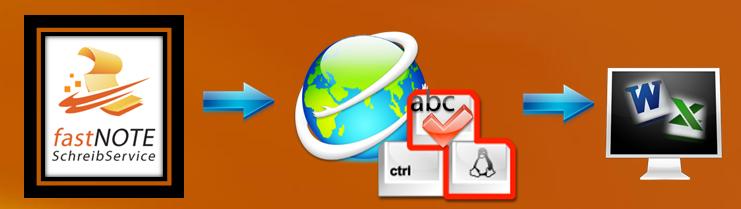 fastNOTE SchreibService erledigt Ihre Schreibarbeiten