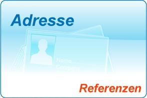 Referenzen Adresseingabe