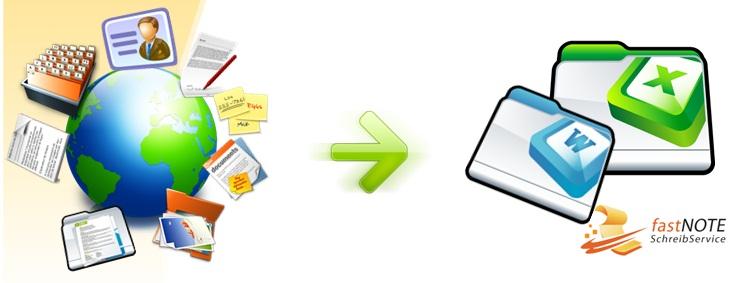 fastNOTE SchreibService - Adresseingabe, Adresspflege