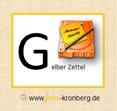 Schreibservice Glossar G - Gelber Zettel Post-It