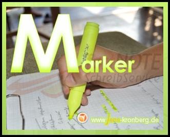 Schreibservice Glossar M - Marker.