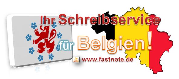 Ihr Schreibervice für Belgien