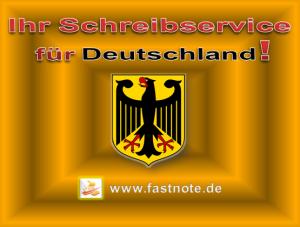 Ihr Schreibservice für Deutschland