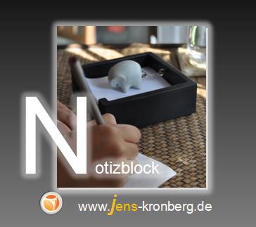 Schreibservice Glossar N - Notizblock, Notizzettel