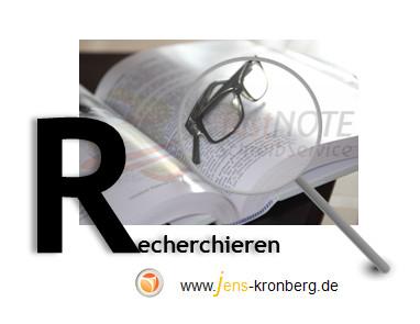 Schreibservice Glossar R - recherchieren