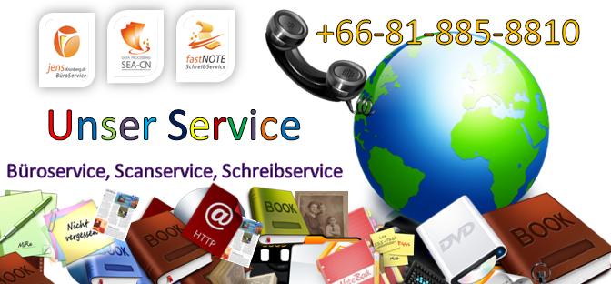 Sekretariatsdienstleistungen - abtippen, abschreiben, übertragen per copy und paste