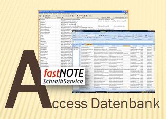 fastNOTE SchreibService Glossar - Access Datenbank