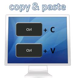 Adressen und Daten per Copy & Paste übertragen
