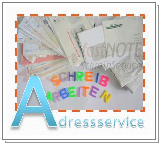 fastNOTE SchreibService Glossar – Adressservice