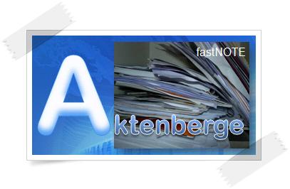 fastNOTE SchreibService Glossar – Aktenberge
