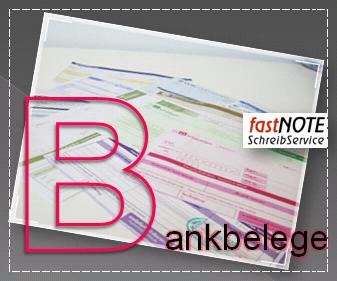 fastNOTE SchreibService Glossar – Bankbelege