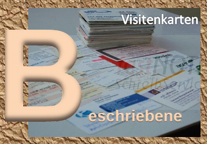 fastNOTE SchreibService Glossar – Beschriebene Visitenkarten