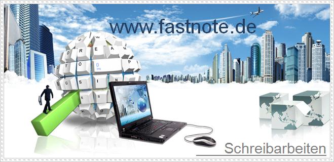 """fastNOTE SchreibService – """"Schreib-lust"""""""