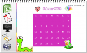 fastNOTE SchreibService wünscht einen schönen Februar 2013