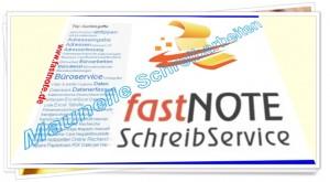 Manuelle Schreibarbeiten - fastNOTE SchreibService
