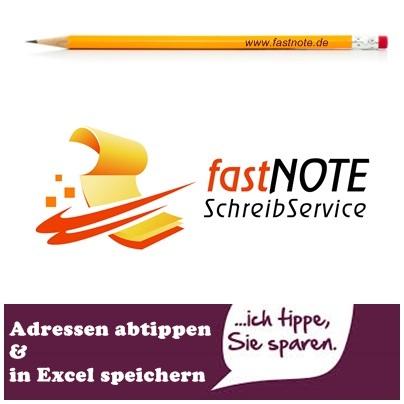 fastnote Schreibservice abtippen