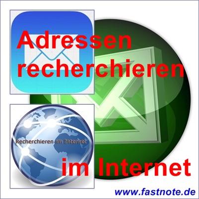 Adressen recherchieren im Internet