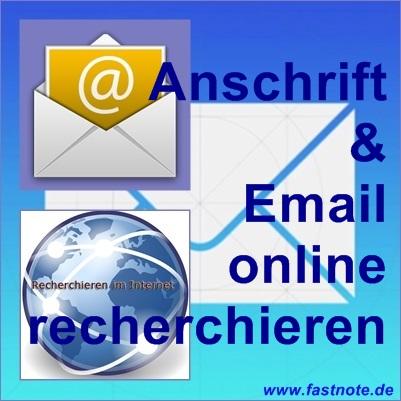 Anschrift und  Email online recherchieren