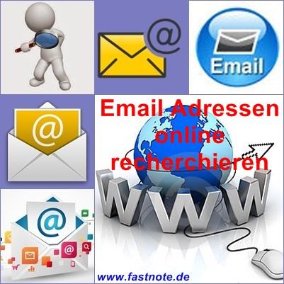 Email Adressen online recherchieren