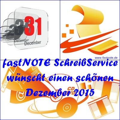 fastNOTE SchreibService Dezember 2015