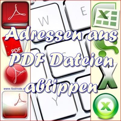 Adressen aus PDF Dateien abtippen