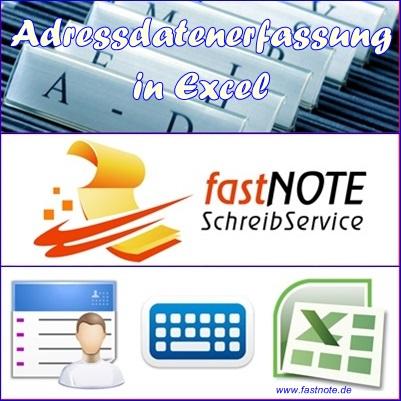 Adressdatenerfassung in Excel