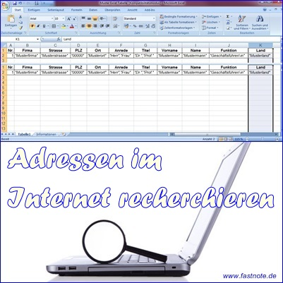 Adressen im Internet recherchieren