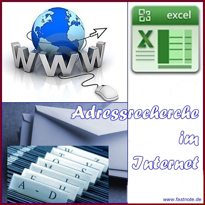 Adressrecherche im Internet