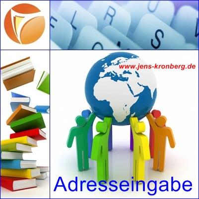 Adresseingabe fastNOTE SchreibService