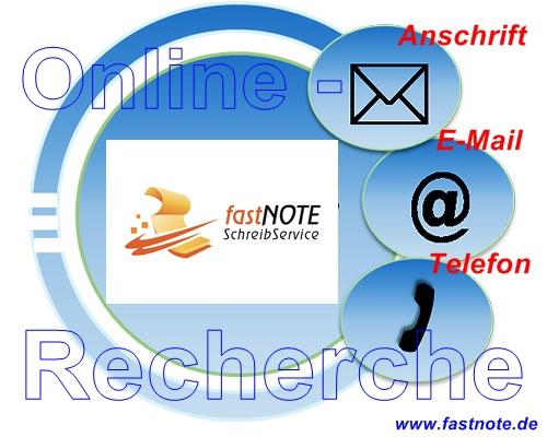 Online-Recherche fastNOTE SchreibService