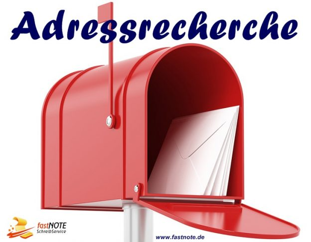 Online Adressermittlung & Adressrecherche fastNOTE SchreibService