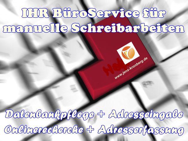 BüroService Kronberg manuelle Schreibarbeiten