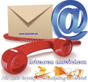 Adressen anreichern fastNOTE SchreibService