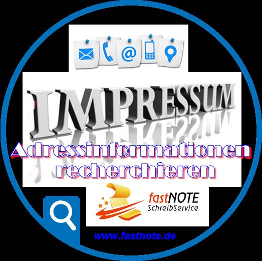 Online Adressinformationen recherchieren Impressum