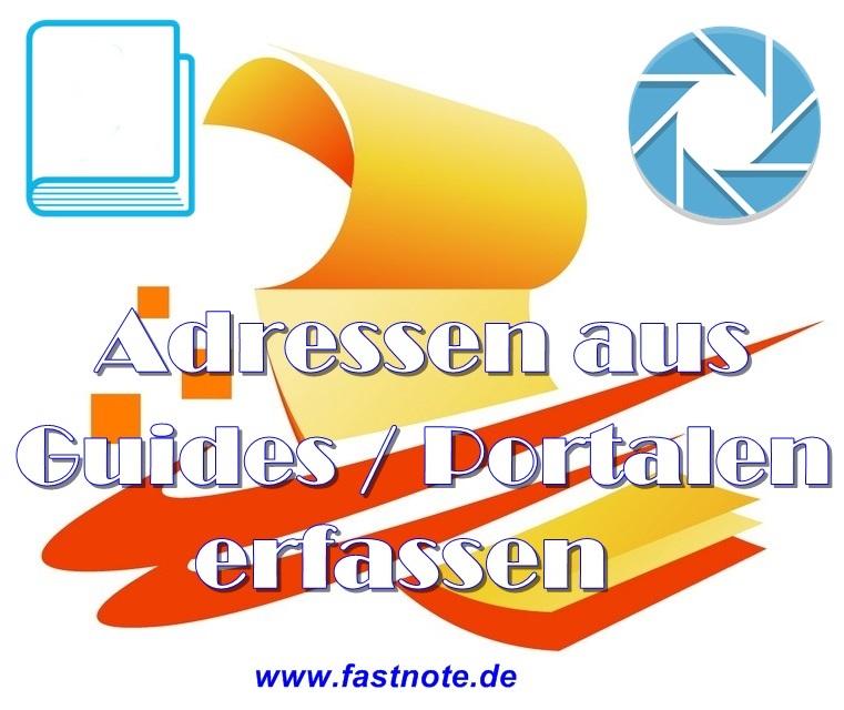 Adressen aus Guides oder Portalen erfassen in Excel