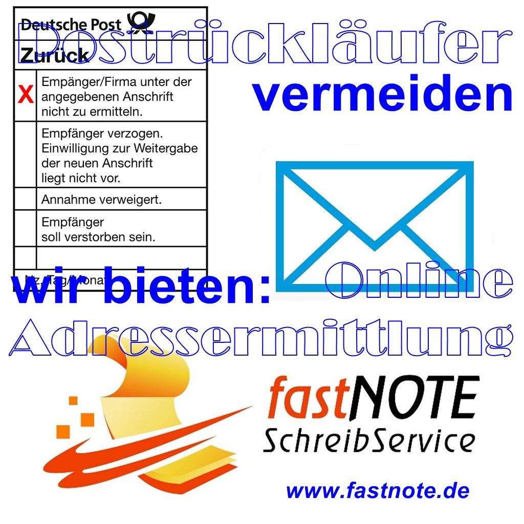 Adressen checken Adressermittlung und Adressrecherche