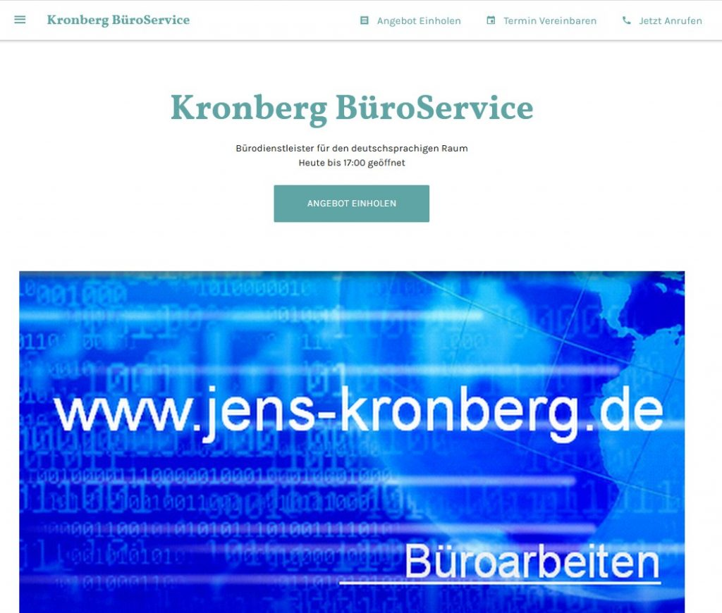 KronbergBüroService business.site