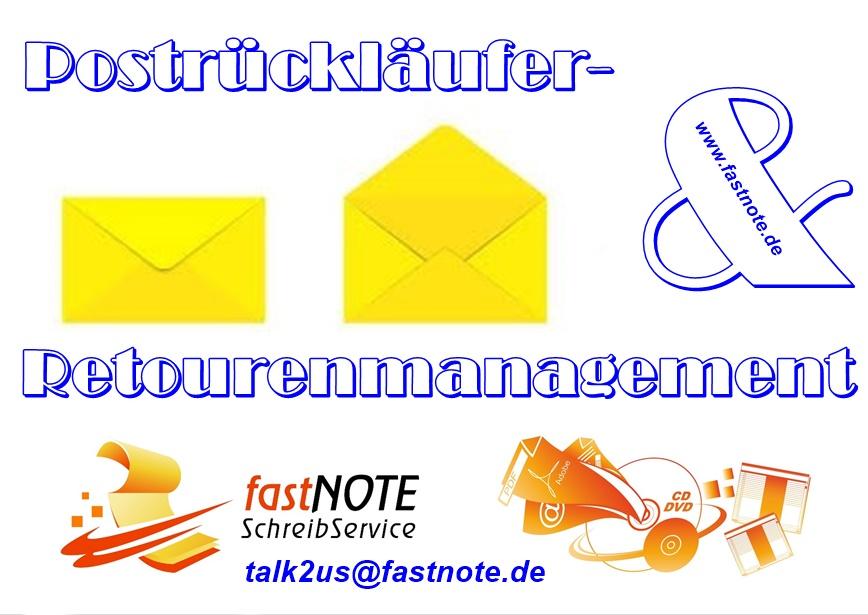 Postrückläufer- und Retourenmanagement Büroservice Schreibservice