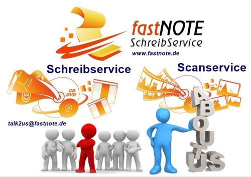 ABOUT US fastNOTE SchreibService IHR Büroservice für manuelle Schreibarbeiten